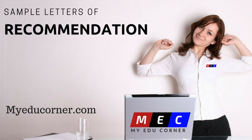 Sample Recommendation Letter - For Employee, Company, Student By Manager, Employee, Colleague